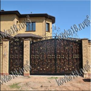 ворота с узорами