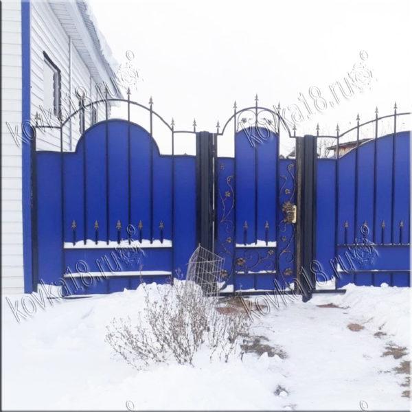 ворота с холодной ковкой