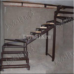 Каркас металлической лестницы образец №3