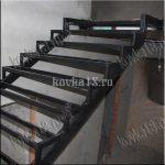 Каркас металлической лестницы образец №1