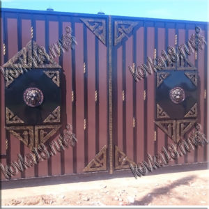 кованые ворота размеры