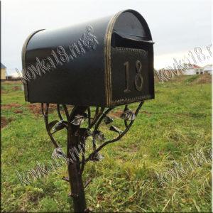 кованый почтовый ящик на ножке