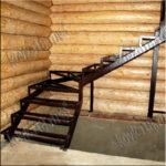 расчет металлическая лестница с забежными ступенями